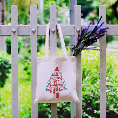 Floral Quote Tote Bag