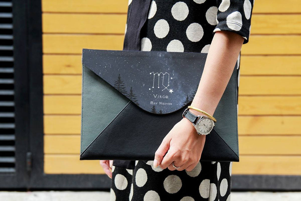 Virgo Zodiac Envelope Clutch