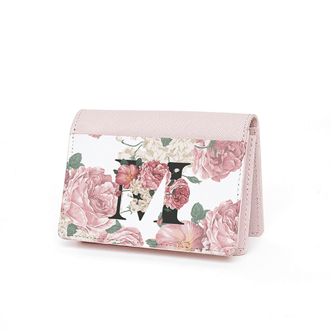 Red Floral Card Holder