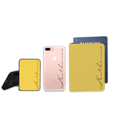 Signature Combo Personalizable Passport Holder, Power Bank and Phone case