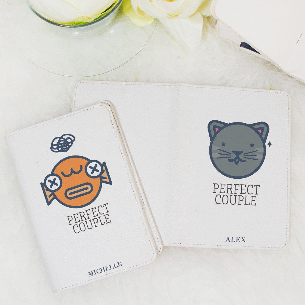 Perfect Couple Personalizable Passport Holder