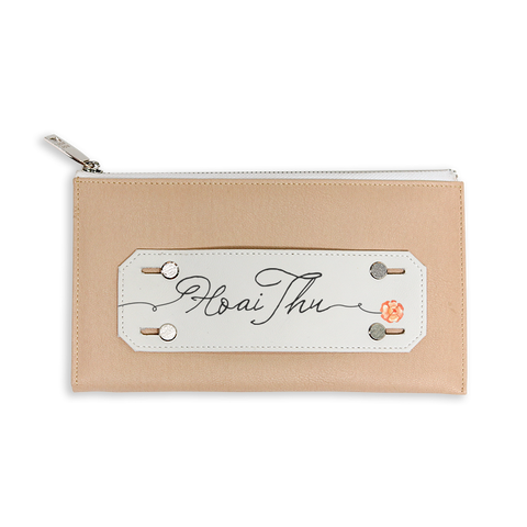Signature Rose Beige Customized Clutch