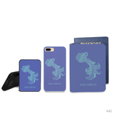 Aquarius Symbol Combo Passport Holder, Power Bank and Phone case