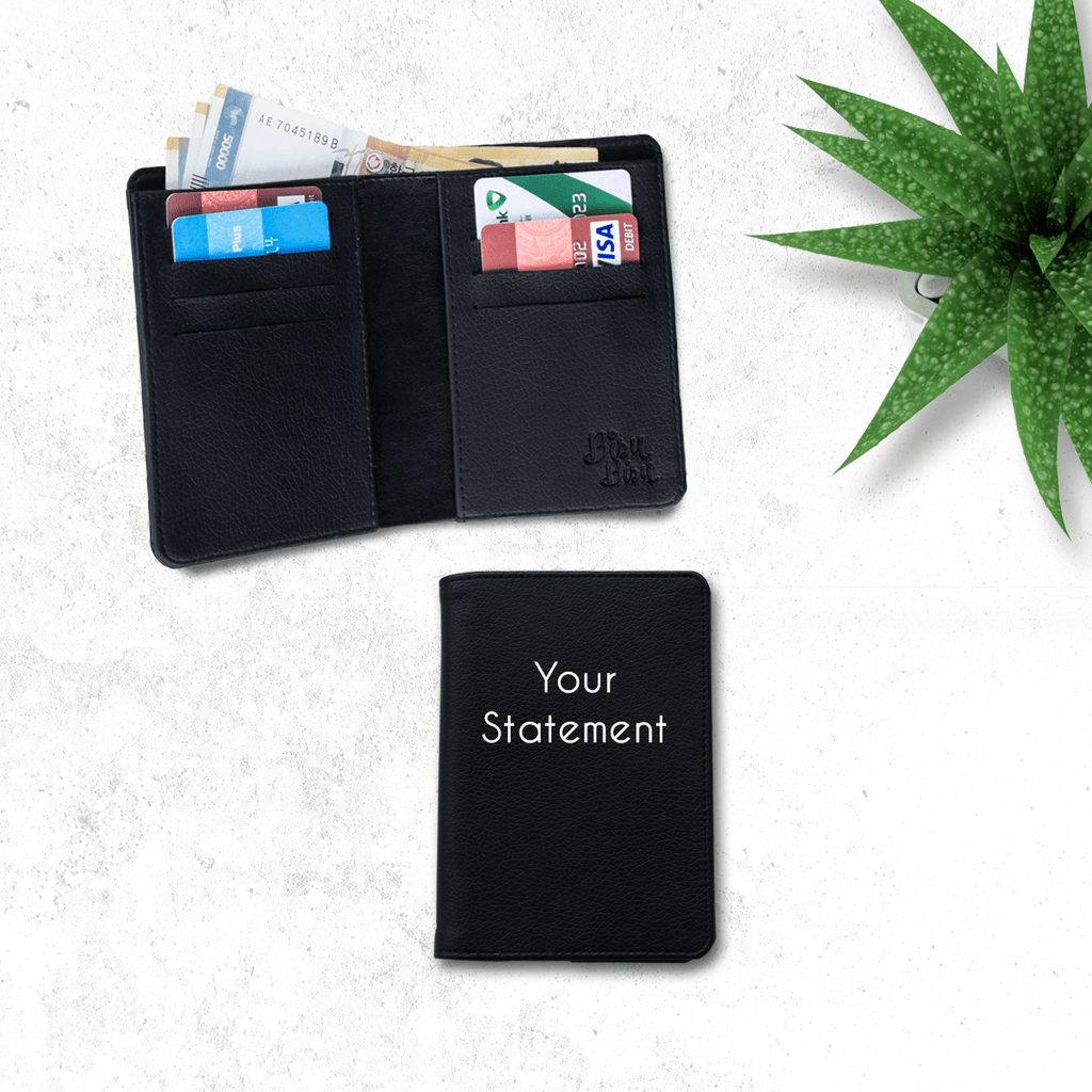 Fully Customizable Black Wallet