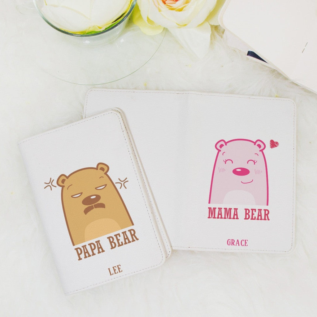 Bear Couple Personalizable Passport Holders