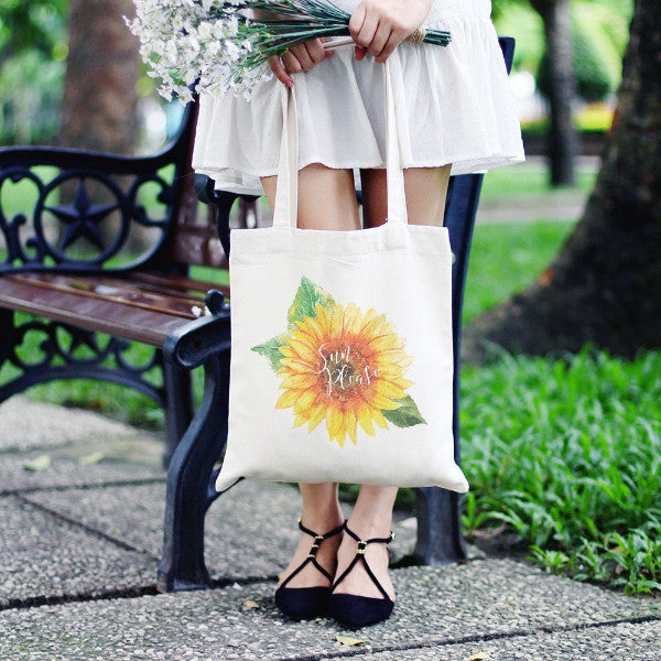 Sun Please Sunflower Tote Bag