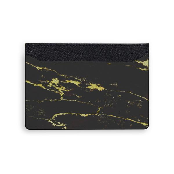 Black Gold Marble Card Holder