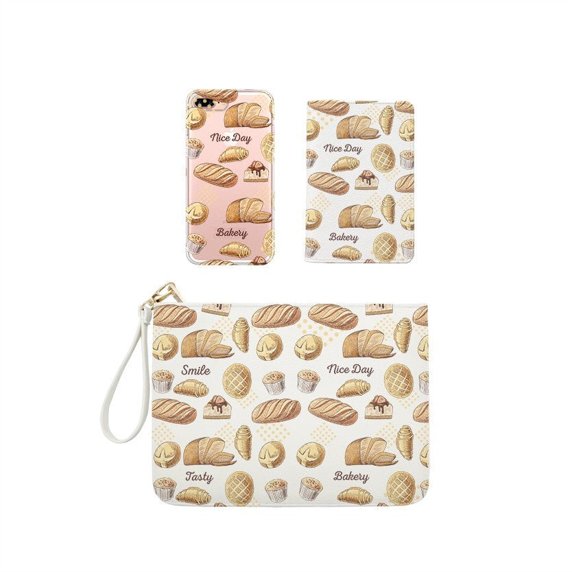 Tasty Bakery Combo Passport Holder, Clutch and Phone case