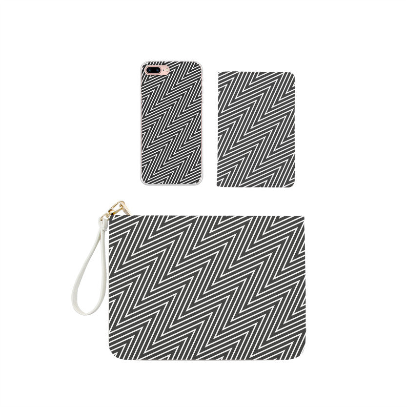 Minimalism Geometric Combo Passport Holder, Clutch and Phone case
