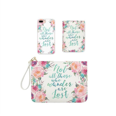 All You Need Is Lipsticks Combo Wallet , Clutch and Phone case