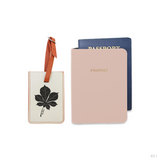 Foliage Combo Luggage Tag and Passport Holder