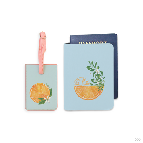 Fruit Crush Combo Personalizable Passport Holder, Power Bank and Phone case