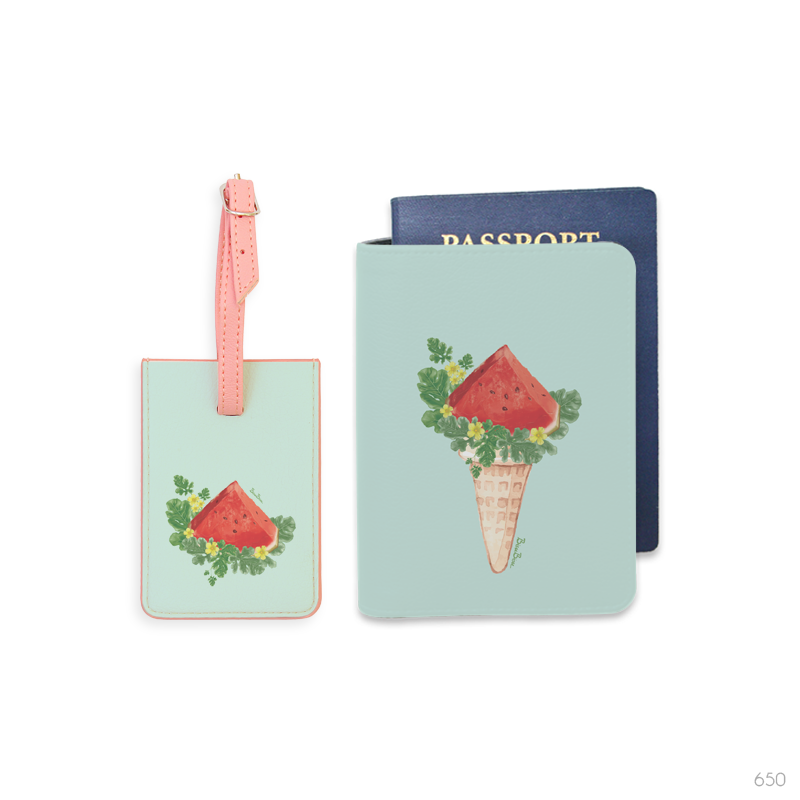 Fruit Crush Luggage Tag and Personalizable Passport Holder