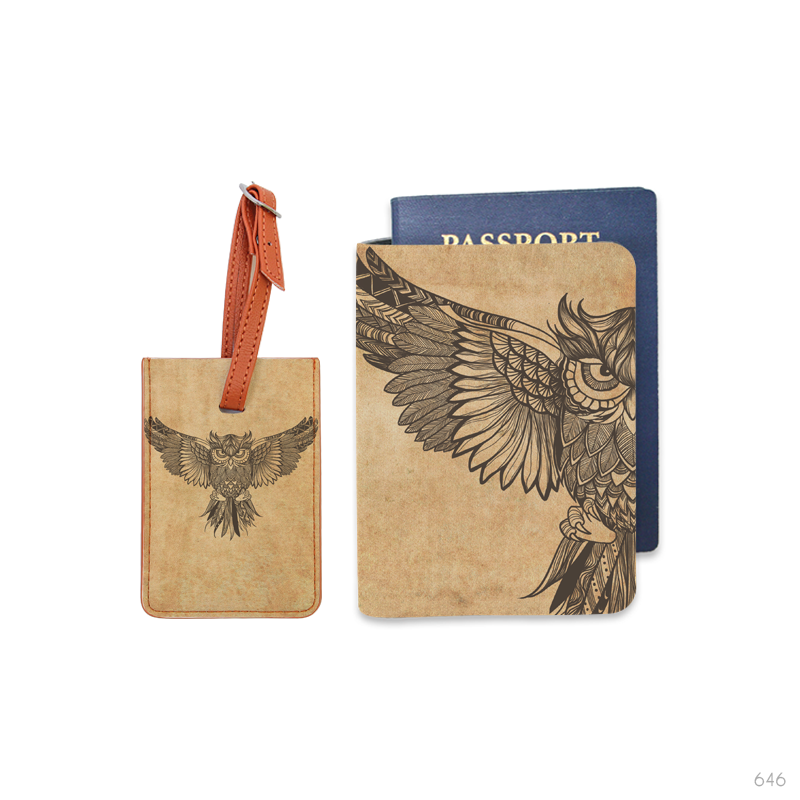 Wild Soul Combo Luggage Tag and Passport Holder