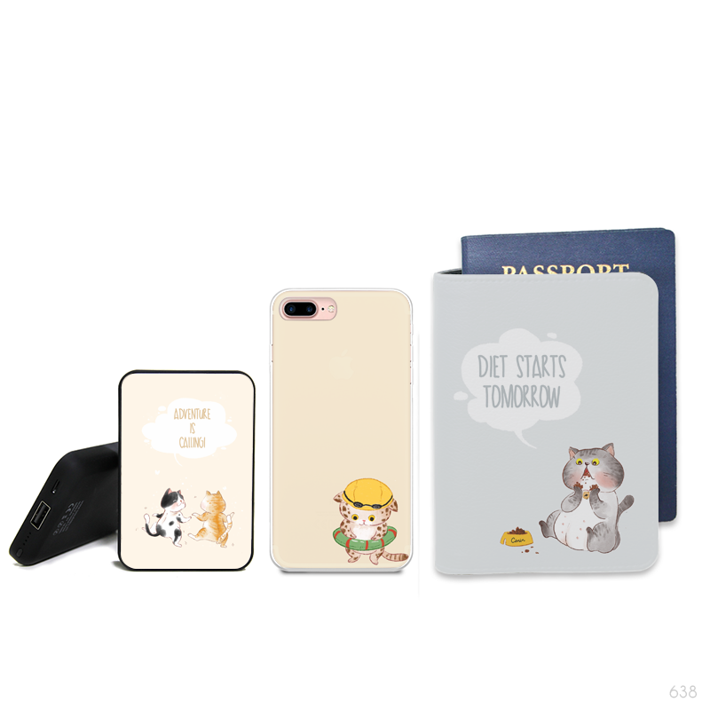 Cat City Activities 3 Combo Passport Holder, Power Bank and Phone case
