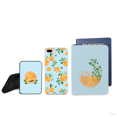 Travel Pattern Combo Passport Holder, Clutch and Phone case