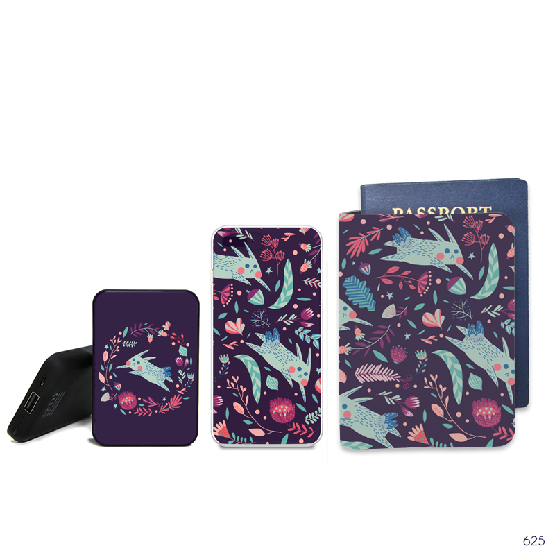 Autumn Combo Passport Holder, Power Bank and Phone case