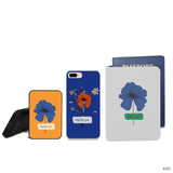 Blue Pressed Flowers Combo Passport Holder, Power Bank and Phone case
