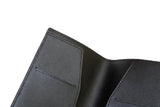 Signature Saffiano Leather Personalizable Passport Holder (Black)