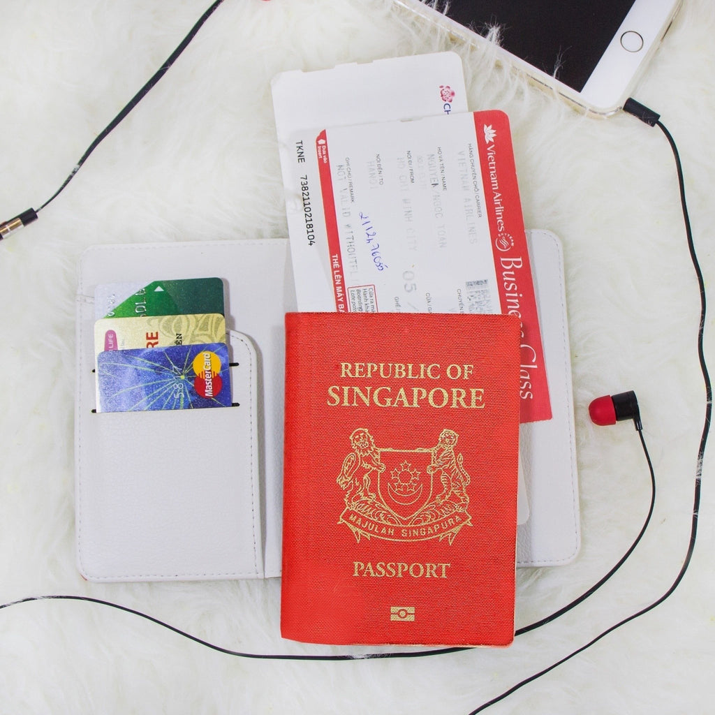 Cream Cake Combo Passport Holder, Clutch and Phone case