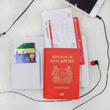 White Colorful Alphabet Combo Passport Holder, Clutch and Phone case