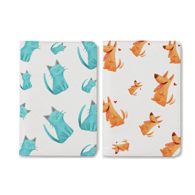 Cat & Dog Couple Passport Holders