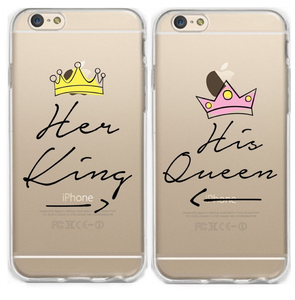best service e1c5a b9730 Her King/ His Queen Couple Phone Cases