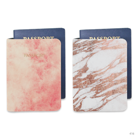 Yellow Marble Passport Holders