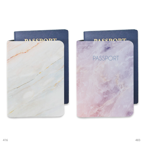 Bisu Bisu personalized Passport Cover and Luggage Tag set Pastel Color Mix