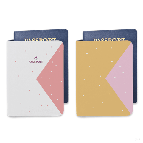 Signature Saffiano Leather Personalizable Passport Holder (Pink)