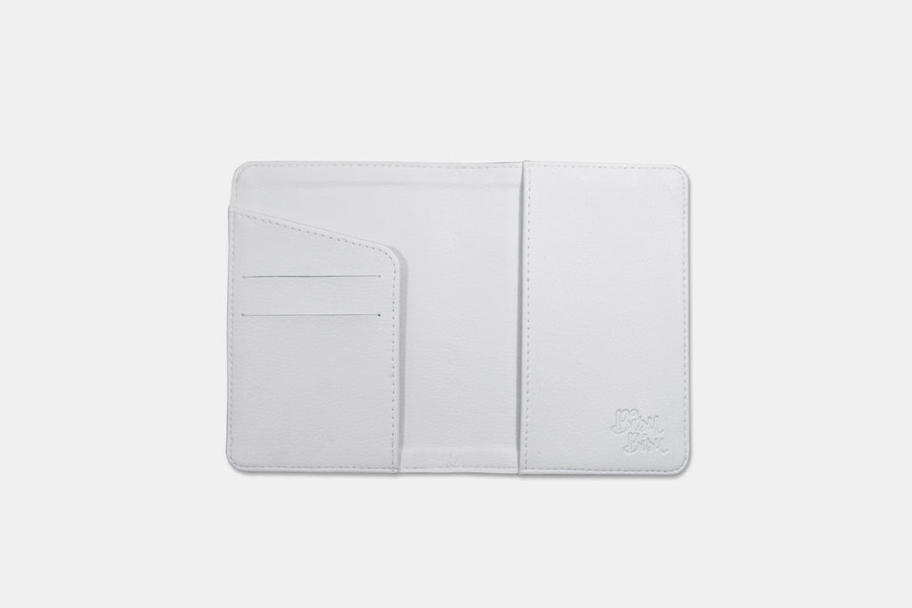 White I'm Outta Here Flowers Personalizable Passport Holder