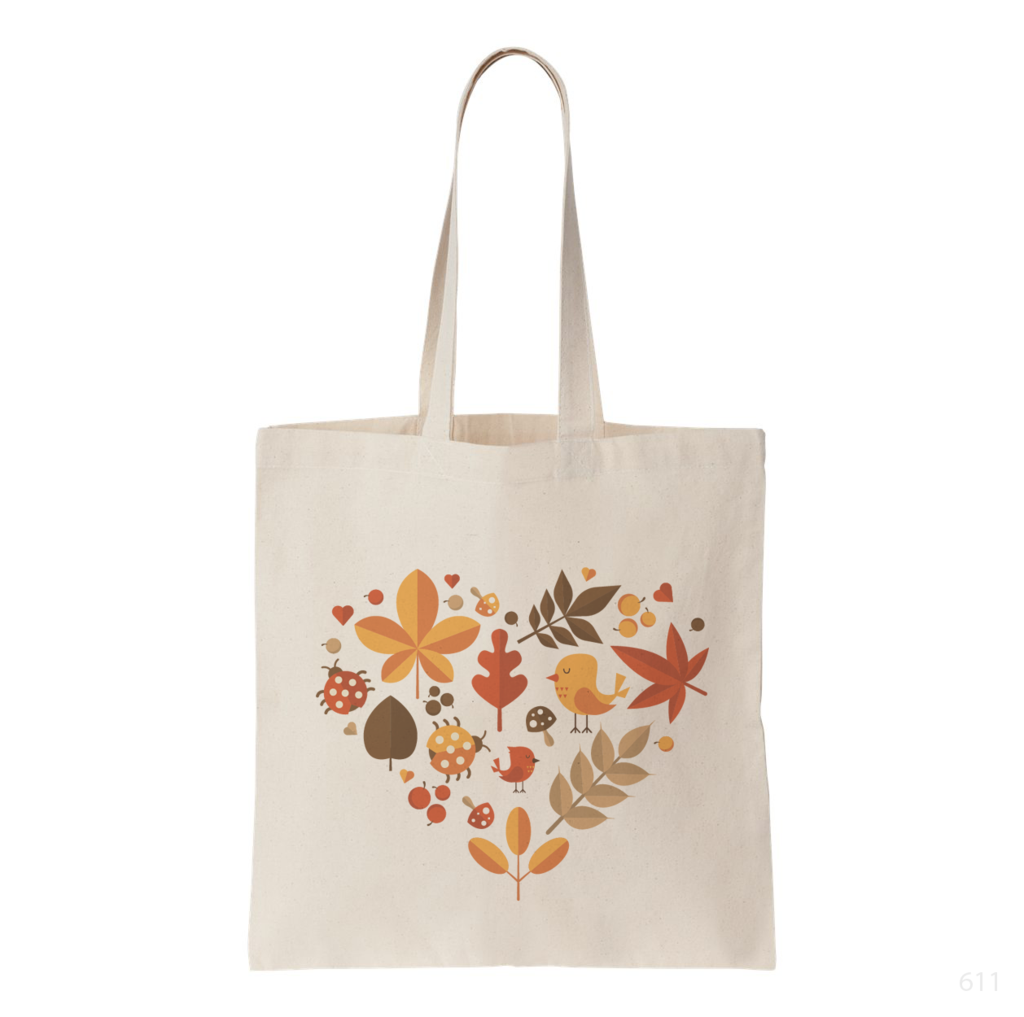 Autumn Heart Tote Bag