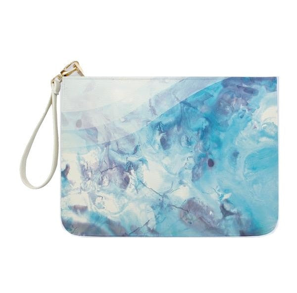 Blue Marble Clutch