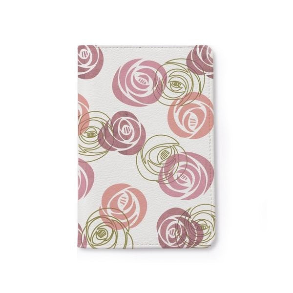 Roses Pattern Personalizable Passport Holder