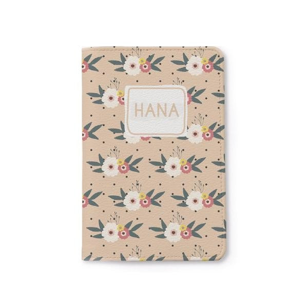 Floral Pattern Passport Holder