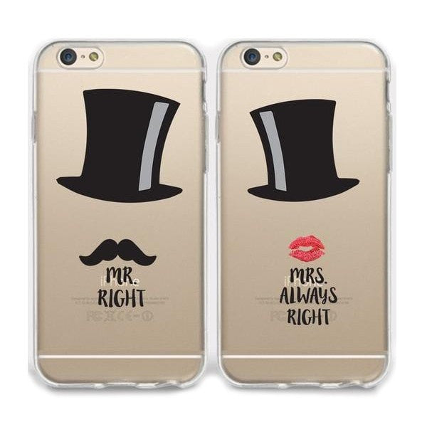 Mr & Mrs Right Couple Phone Cases