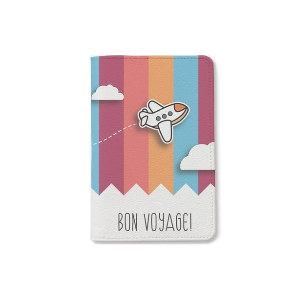 Bon Voyage Colorful Passport Holder