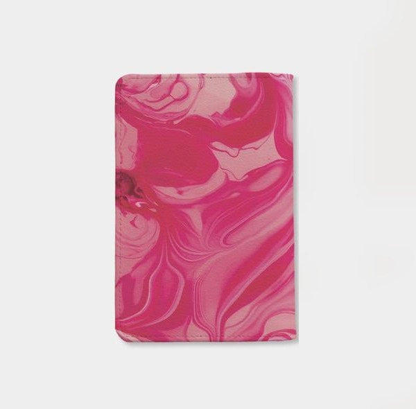 Wild Beautiful & Free Hot Pink Marble Personalizable Passport Holder