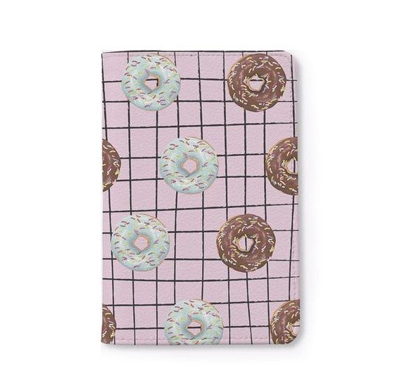 Pink Donuts Passport Holder