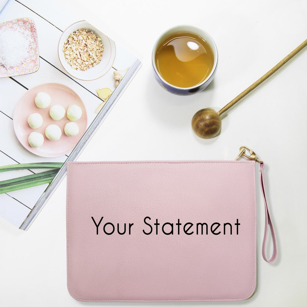 Fully Customizable Pink Clutch