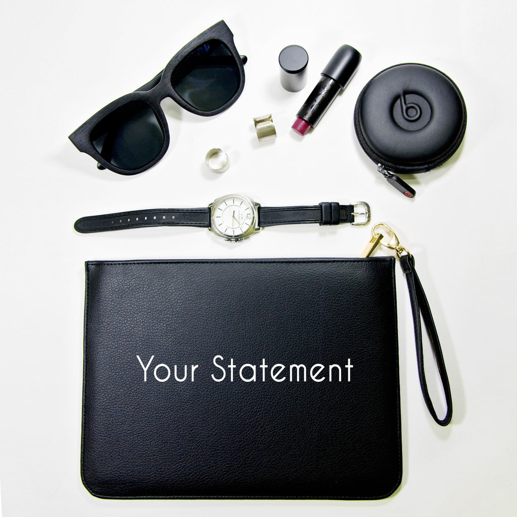Fully Customizable Black Clutch