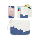 Eternity Flowers Combo Wallet , Clutch and Phone case