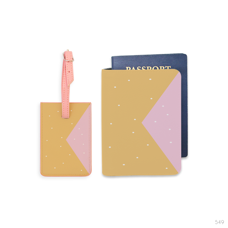 Color Mix Combo Luggage Tag and Passport Holder