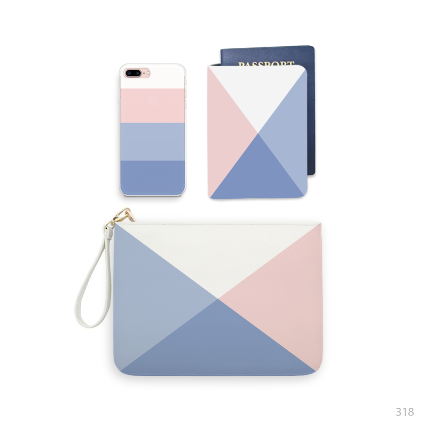 Pastel Color Combo Wallet , Clutch and Phone case