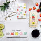 Meow Combo Passport Holder, Clutch and Phone case