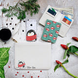 Penguin And Christmas Combo Wallet , Clutch and Phone case