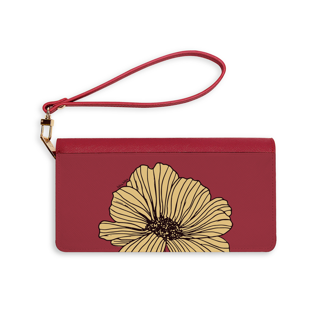Yellow Flower Sketch Mars Long Wallet