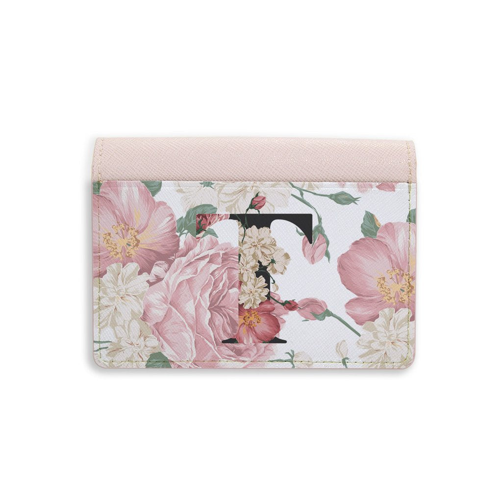 Floral Monogram Mini Wallet