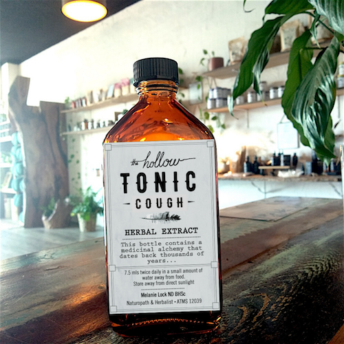 200ml Cough Tonic Tincture for COVID-19 | The Hollow Store Port Macquarie