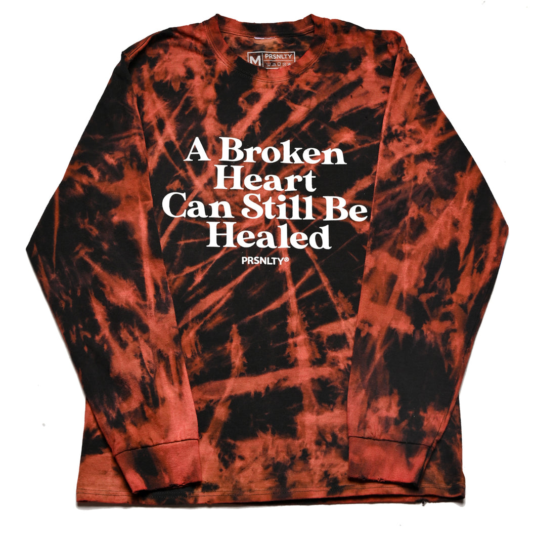 Bleached Dyed Broken Hearts Long Sleeve x Sunhouse (M)